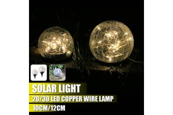 20/30 LED Solar Light Bulb 10/20 cm IP45 Waterproof Underground Light Outdoor Garden Decor Light Warm Yellow Light(12 cm)