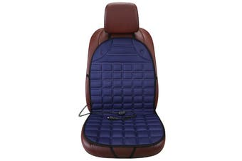 2V 65°C Car Heated Seat Cover Cushion Fireproof Heating Warmer Pad Cover 30S Fast Heating Wniter Supplies(blue)(Double Seats)