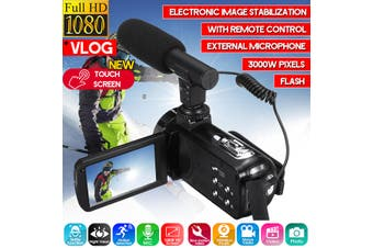 1080P Digital Camera 18 X Video Camera Camcorder Vlogging Camera Full HD(Touch Screen)