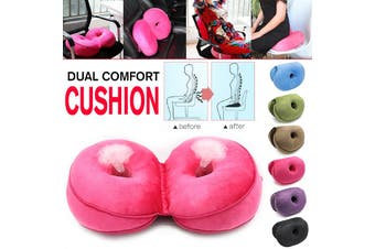 Dual Comfort Cushion Memory Foam Hip Lift Seat Pelvic Support V-shaped design(rosered)
