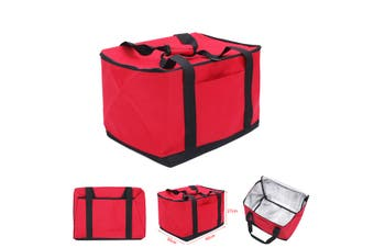 27L Professional Food Delivery Bag Takeaway Package for Pizza/Burgers/Pies Red(red)(40cm by 30cm by 27cm)
