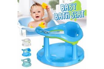 Infant Newborn Baby Bath Seat Tub Chair Anti-slip Bathtub Bathing Shower Chair(blue)