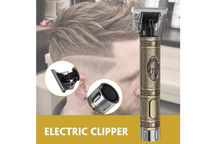 Bronze Buddha Head Carving Clipper Retro Mini Haircut Artifact Electric Clipper(USB Plug-Upgrade)