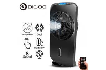 DIGOO DG-F1101 Touch-screen Spray Fan Remote Control Speed Adjustable Ultrafine Spray Multifunction Home Fan(EU Plug)