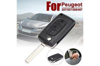3 Button Remote Flip Expert Partner Van Centre Key Fob Case Shell Repair For Peugeot 207 407 407