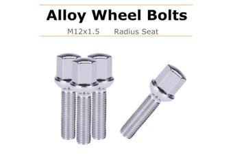 4x 17mm Car Alloy Wheel Rim Lug Bolts Nut M12x1.5 Hex Radius For Mercedes For Benz CLK W209 1992-2009(4pcs)