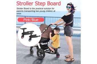 Board Stroller Step Board Stand Connector Toddler/Kids Pink/Blue(blue)