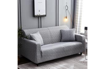 2 Seater Sofa Slipcover Stretch Protector Soft Couch Cover Wash Easys Fit【Grey】(grey)(2 seaters Grey)