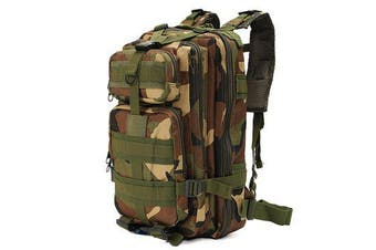 30L Outdoor Tactical Backpack 600D Nylon Camouflage Camping Hiking Trekking Rucksack Travel outdoor Bag Sport backpacks(woodland camo)