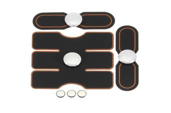 Unisex EMS Abdominal ABS Fit Muscle Training Gear Exercise Smart Body Building Fitness pulsation Pad(black)(3pcs set)