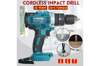 3in1 Cordless Compact Impact Drill Hammer Driver LED 18V 13mm for Makita Battery(without battery)
