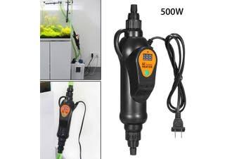 500W Adjustable Submersible Mini External Water Heater LCD Display 20-35 Degree For Aquarium Fish Tank(black)(500W)