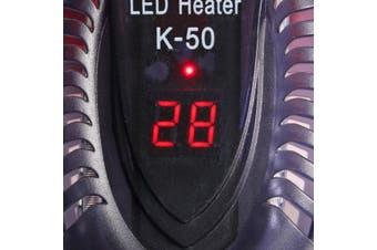 25/ 50/ 75/ 100W LED Screen Displays Aquarium Fish Tank LED Heater 17-35 Degrees Adjustable Submersible Thermostat(100W)