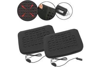 2x Car Vehicle Electric Heated Seat Cover Pad Chair Cushion Mat Carpet Warmer