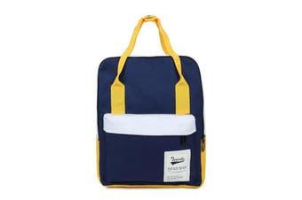 Women Canvas Backpack Travel Satchel Rucksack Girls Shoulder School Bag Handbag Blue Yellow(blue)(Yellow and blue)