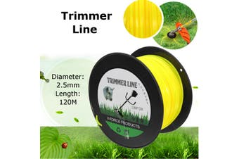 2.5mm x 120m Trimmer Line Whipper Snipper Cord Wire Brush Cutter Brushcutter(yellow)