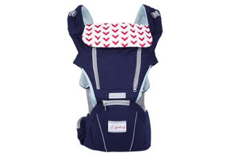 Baby Carrier Waist Stool Multifunction Infant Front Carrier(navyblue)(Dark Blue)