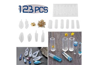DIY Resin Casting Molds Silicone Craft Ears Pendant Chocolate Making Mould Kit(Type I-123PCS Resin Casting Molds)