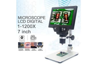 "MUSTOOL G1200 12MP 7"" HD Digital Microscope 1-1200X Continuous Zoom Magnifier"
