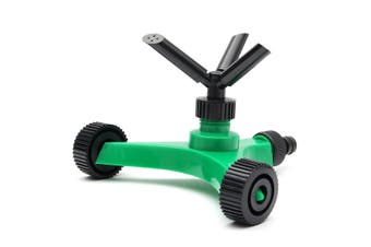 3-Nozzle 360° Automatic Watering Plant Lawn Sprinkler Rotate Garden Plant Water Irrigation Spray System(green)(Type1)