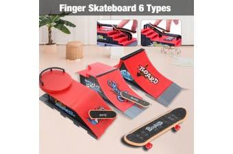Skate Park Ramp Parts for Tech Deck Fingerboard Finger Board Ultimate Parks Kit(D)