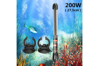 25/50/100/200/300W Submersible Heater Heating Rod For Aquarium Glass Fish Tank Pcmeal(200W Thermostat Heater)