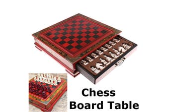 Vintage Wooden Chinese Chess Board Table Games Set Pieces Gift Collectibles