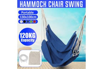 Portable Hanging Hammock Chair Swing Thicken Porch Seat Garden Outdoor Camping Patio Travel(black)(01 Black Without Pillow)