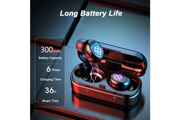 TWS bluetooth 5.0 Sports Earphones LED Power Display Headphones Auto Pairing(A 1000mAh earbuds)