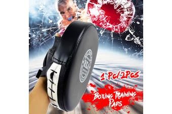1Pcs Boxing Mitt Training Target Focus Punch Pad Glove MMA Karate Muay Thai(black)(1Pcs-24.2 x 19 x 4cm)