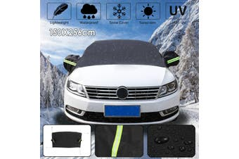 Car Windscreen Windshield Frost Ice Snow Cover Shield Mirror Window Protector(black)(D)