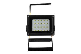 50W 36 LED Portable Rechargeable Flood Light Spot Work Camping Fishing 18650Lamp(black)(Black)