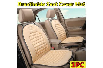 Universal Breathable Seat Cover Mat Comfortable Cushion For Car /Truck /Office(beige)(2020 New Upgrade Style)