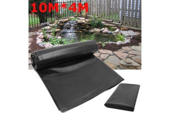 10*4M Fish Pond Liner Gardens Pools HDPE Membrane Reinforced Guaranty Landscaping(black)(10X4M(12S/0.12mm))