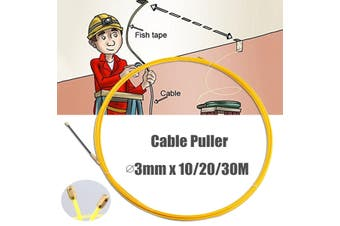 Wire Cable Fiberglass Fish Tape Reel Conduit Ducting Rodder 3mm # 30m(30m 3mm)