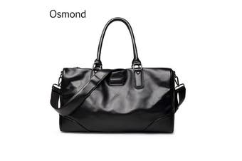 Osmond New Fashion Men Handbag Travel Bag Large Capacity PU Leather Messenger Bag Crossbody Luggage Duffle Shoulder Bags For Men