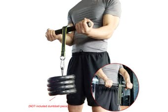 Gym Forearm Wrist Roller Training Fitness Workout Strengthener Hand Gripper UK(black)(Arm Trainer)