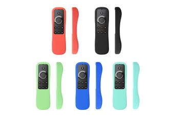 For Amazon Fire TV Stick &Voice Remote Controller Shockproof Silicone Case Cover(black)(Black)