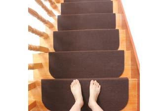 Morden Door Mats Household Carpet Stair Tread Step Rugs #brown(brown)(1pcs stair pad)