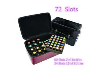 Bottles Shoulder Style Essential Oils Carrying Storage Case Travel Bag(purple)