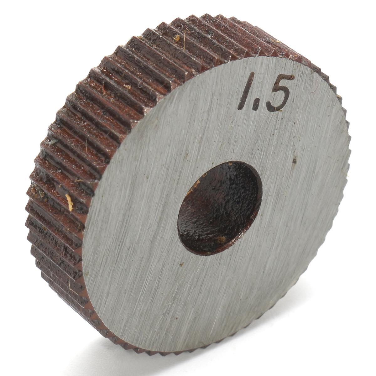 7X Single Wheel Straight Linear Knurling Knurler Tool Set 0.5mm 1.5mm 2mm   A