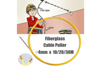 Wire Cable Fiberglass Fish Tape Reel Conduit Ducting Rodder 4mm # 20M(20m 4mm)