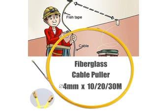 Wire Cable Fiberglass Fish Tape Reel Conduit Ducting Rodder 4mm # 30M(30m 4mm)