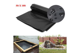 5'x10' HDPE Pond Liner Heavy Duty Landscaping Garden Pool Waterproof Liner Cloth(black)(1.5m by 3m)