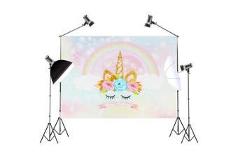 90*150cm Cute Rainbow Photography Background Cartoon Baby Theme Photo Studio Backdrop Props(Type 3(small))