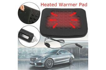 Car Vehicle Heated Seat Cushion Hot Cover 12V Auto Heater Warmer Pad Mat(black)