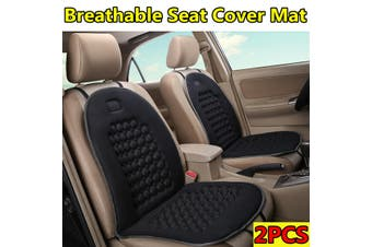 2PCS Black Breathable Seat Cover Mat Comfortable Cushion For Car /Van /Truck /Office /Home(black)(2PCS 2020 Upgraded)