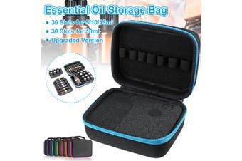 30 Slots For 5/10/15ml Essential Oil Carrying Case Roller Bottle Storage Bag(blue)(Upgraded Version 5/10/15ml)