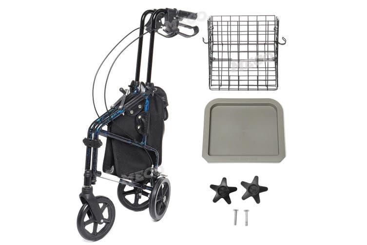 3 Wheel Rollator Lightweight Aluminium alloy 4 gear adjustment meet the needs of different height people walking aid