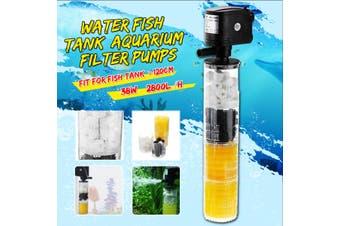 HX-1480F 3in1 220V Mini Aquarium Internal Filter Oxygen Submersible Water Pump for Fish Tanks(35W 2800L/H EU Plug Internal Use)